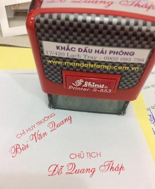 Khắc dẫu chữ ký đẹp Hải Phòng