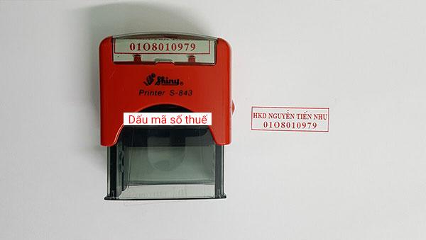 khắc dấu mã số thuế tại hải phòng